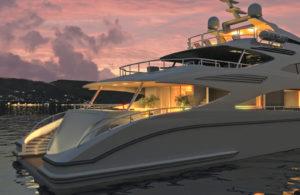Lo studio X-Form ha curato l'industrializzazione e il design di alcune zone dell'imbarcazione nella foto: uno yacht da 47 metri per i cantieri Benetti di Livorno