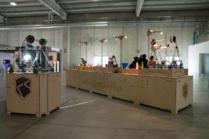 Lo stand di Kentstrapper, startup fondata da due giovani nel 2011 per la produzione di stampanti 3D di basso costo