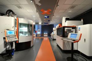 Un particolare dell'Area Espositiva del nuovo Centro di Competenza GF Machining Solutions  di Cusano Milanino (MI)