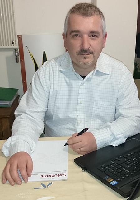 Giulio Ienna, responsabile dell'ufficio tecnico della torinese Bsa, con sede a Venaria Reale.