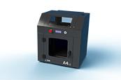 La stampante 3ntr A4v3 di medio formato, consente di produrre oggetti 3D con un formato massimo di 300x200x200 millimetri