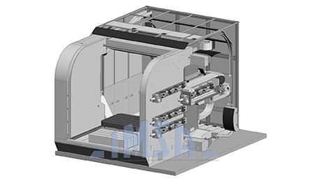 Nuovo centro di foratura profonda e lavorazioni complementari MF1300 BB/4P, esposto in EMO 2015, per il quale IMSA ha scelto di utilizzare lubrorefrigeranti Harolbio di Bellini.