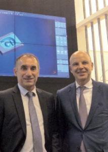 Da sinistra, Bernhard Rindfleisch, presidente e fondatore; e Thomas Wrede, membro del Consiglio di Amministrazione Tebis.