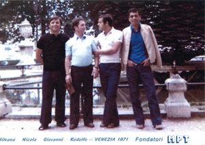I fondatori di Mpt Silvano Bibbiani, Nicola Piscicelli, Giovanni Meini e Rodolfo Taviani.