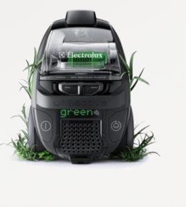Gli aspirapolveri Electrolux della serie 'green range' sono costituiti da parti costruite con innovativi materiali plastici ricavati da fonte rinnovabile.
