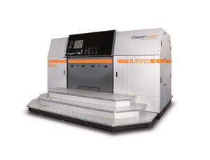 Con la X Line 2000R di Concept Laser siamo al vertice della stampa 3D di prototipi e componenti funzionali in metallo di grandi dimensioni. Usa il laser per fondere le polveri e può realizzare oggetti fino a 800 x 400 x 500 mm di dimensione.