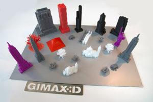 Oggetti in ABS realizzati con una stampante economica prodotta dall'azienda italiana Gimax 3D basata sulla FDM, tecnologia accessibile perfetta per la realizzazione di prototipi concettuali.