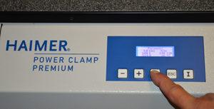 La macchina a calettamento Power Clamp Premium Line di Haimer permette di fare una selezione in base alla misura diametro dell'utensile e, in base a questa, parametrizza automaticamente 9 valori preimpostati secondo le precise specifiche tecniche.