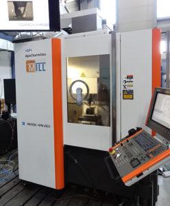 Il centro di lavoro a 5 assi MIKRON HPM 450U di GF Machining Solutions su cui è stata eseguita la lavorazione.