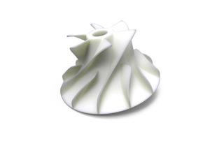 una turbina in Nylon prodotta con sinterizzazione laser