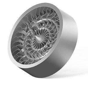 un componente girante di una turbina realizzato mediante sinterizzazione laser diretta di metalli