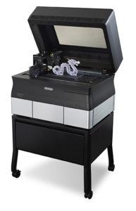 """La stampante 3D Objet 30 di Stratasys che sarà presente nell'area dimostrativa """"Fabbricare con la stampa 3D"""" a MecSpe."""