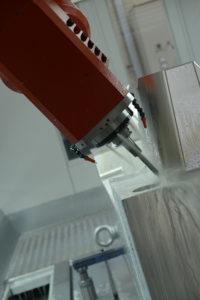 Dettaglio di esecuzione di uno stampo in alluminio.