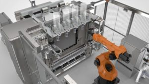Il dimostratore Stratasys Infinite-Build 3D per la realizzazione di grandi oggetti e componenti di produzione è progettato per garantire precisione, ripetibilità e velocità per la produzione OEM personalizzata e la trasformazione aftermarket on demand