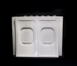 Parte del Dimostratore Stratasys Infinite- Build 3D - pannello per aeromobile