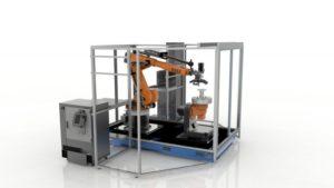 """Il dimostratore Robotic Composite 3D di Stratasys svela un approccio ibrido per la produzione automatizzata di pezzi compositi che esce dalla mentalità di """"stampa a strati"""" e consente di ottenere il pieno valore della fabbricazione additiva, da applicare alle strutture composite ad alto valore, rendendole più leggere che mai"""