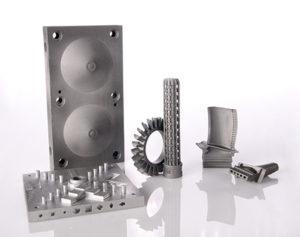 Pezzi metallici realizzati per stampa.