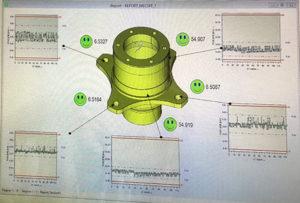 I risultati della misurazione sono elaborati dal software di analisi statistica Q-DAS.
