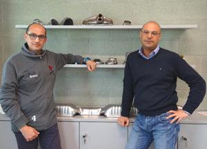Da sinistra: Massimo Mascali e Gabriele Graziosi, rispettivamente Project Quality Engineer di P&C Automotive e Country Manager di GOM Italia S.r.l.