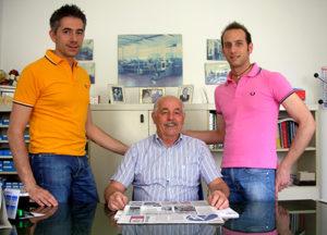 Luigi Motta guida l'azienda insieme ai figli Andrea e Alessandro