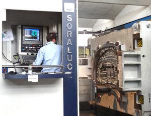Esecuzione di uno stampo per lamiera, settore automotive, con un centro di fresatura/alesatura FP 6000 Soraluce.