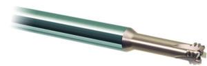 Fresa sferica a 4 tagli EHHB. Consente lavorazioni di sgrossatura e ripresa di temprati fino a 66HRC in alta efficienza, con diametri da 2 a 12 mm.