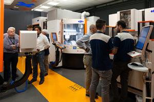 Enrico Borghi e Marco Zilli di GF Machining Solutions Italia illustrano le peculiarità della piattaforma rConnect.