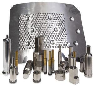 Tra i numerosi prodotti a catalogo, Rigon rende disponibile anche una vasta gamma di punzoni e matrici testa cilindrica.