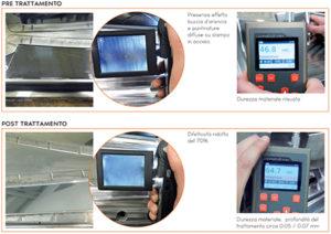 Esempio di trattamento Primeform eseguito su copri montante, settore automotive.