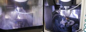 Lavorando in campana d'acqua, si ha un flusso laminare d'acqua intorno all'area di lavoro. In pratica lavoriamo a secco ma la polvere di grafite, proiettata contro la barriera continua di acqua, precipita e viene evacuata col liquido - spiega OMCS Plast.