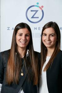 (da sinistra) Manuela e Sara Zanola, figlie del fondatore Alfredo Zanola, e oggi alla guida di Zanola Network.