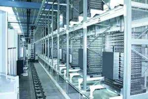 Una delle linee produttive automatizzate.