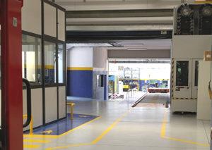 Vista interna dell'unità produttiva di Omsaf.