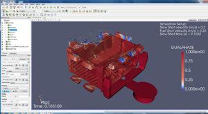 Grazie alla diversificata dotazione software, Omsaf presta attenzione anche alla parte di simulazione iniezione plastica e processo di pressocolata.