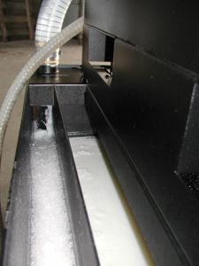 Emulsione che rientra nella vasca della macchina utensile dopo il trattamento con IFDR